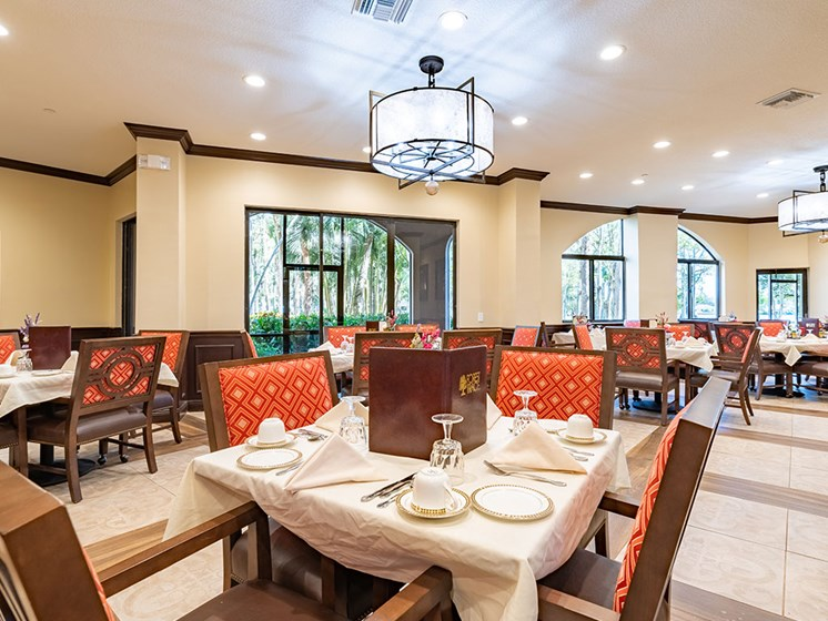 Private Dining Rooms at Pacifica Senior Living Forest Trace, Lauderhill