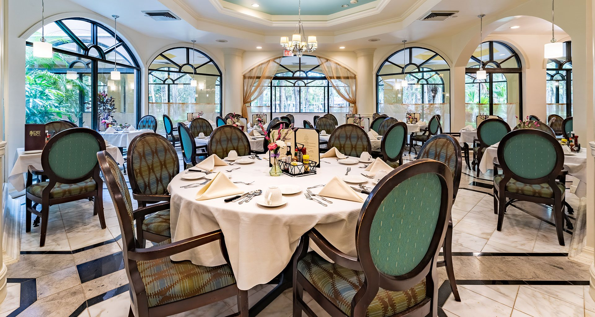 Well Lite Dining Room at Pacifica Senior Living Forest Trace, Lauderhill, FL, 33319