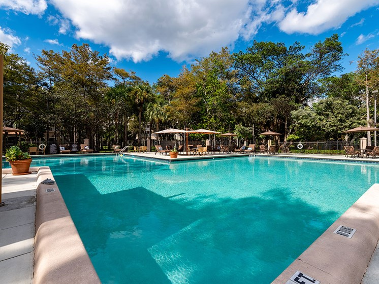 Sparkling Pool at Pacifica Senior Living Forest Trace, Lauderhill