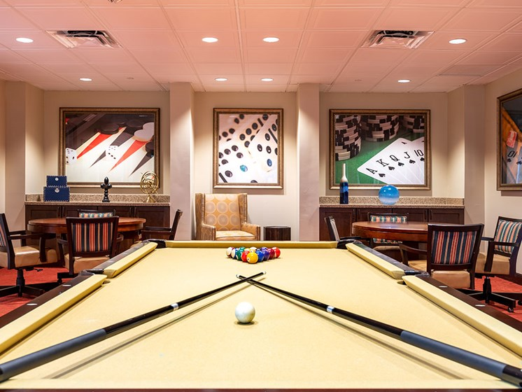 Billiards Table at Pacifica Senior Living Forest Trace, Lauderhill, 33319