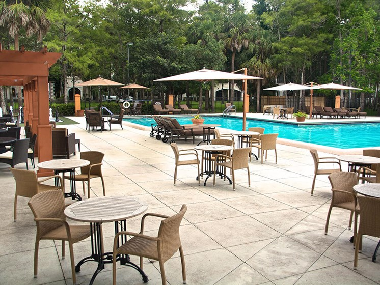 Swimming Pool at our senior living facility in Lauderhill, Florida