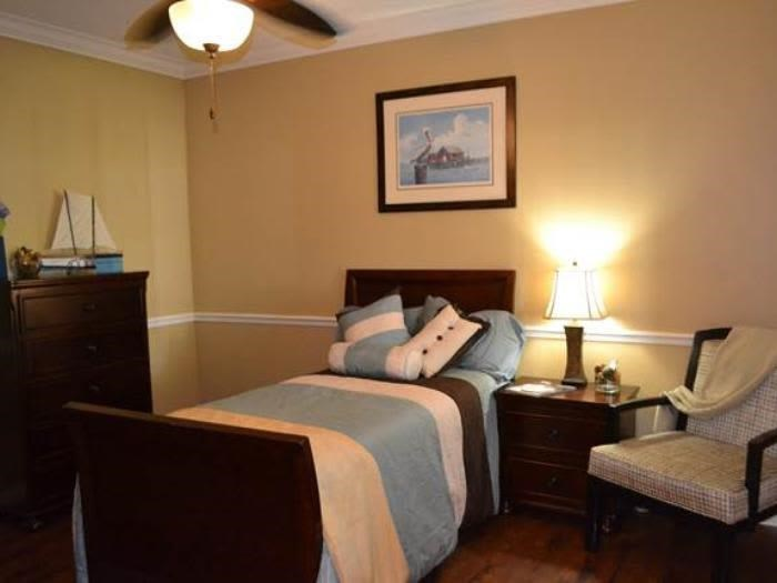 Beautiful temporary living bedroom at Pacifica Senior Living Fort Myers