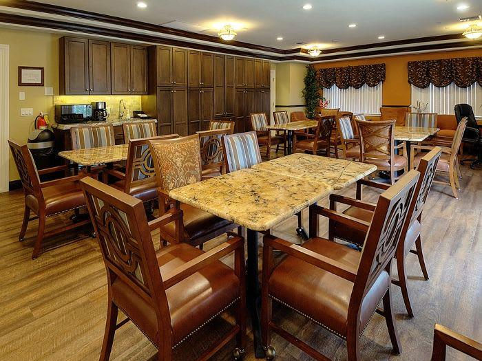 Dinner room at Pacifica Senior Living Fort Myers, Lee County, FL, Gulf Coast