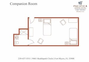 Companion Floor Plan at Pacifica Senior Living Fort Myers, Fort Myers, FL, 33908