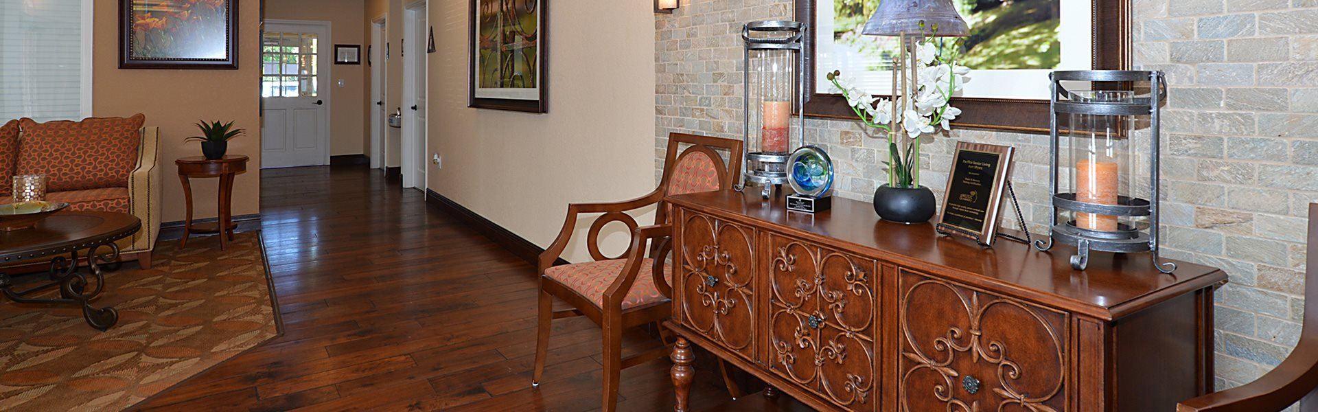 Stylish Living Room at Pacifica Senior Living Fort Myers, Florida, 33908