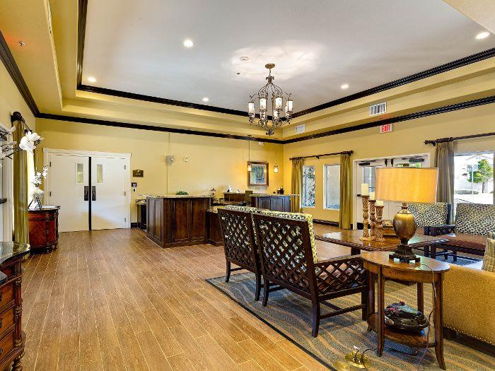 Spacious living room at Pacifica Senior Living Green Valley in Henderson, NV