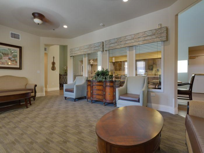 Living room at Pacifica Senior Living Green Valley