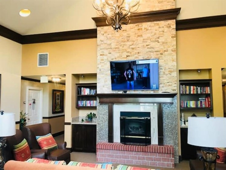 Living room for games and relaxing at Pacifica Senior Living Hemet in Hemet, CA