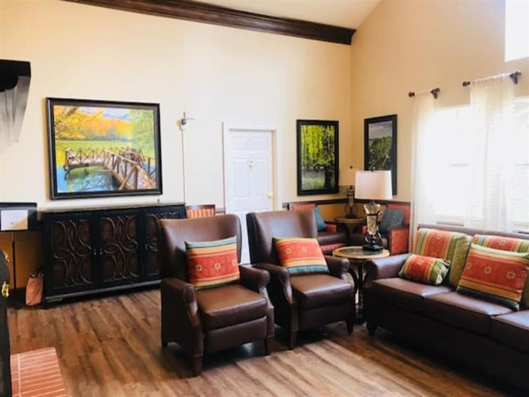 Beautiful living room at Pacifica Senior Living Hemet in Hemet, California