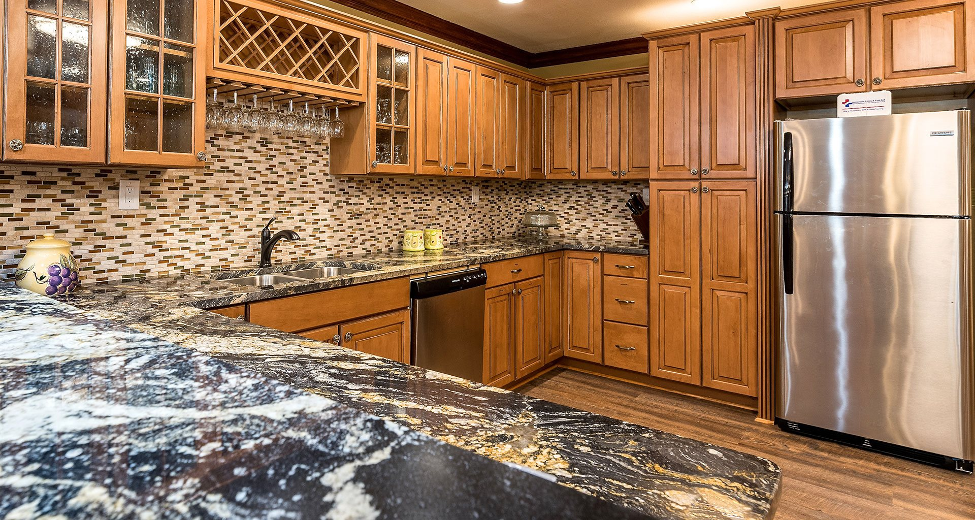 Modern Kitchen With Wood Cabinet at Pacifica Senior Living Heritage Hills, Hendersonville