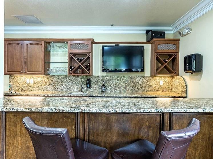 Spacious Kitchen with Granite Countertops Pacifica Senior Living Heritage Hills in Hendersonville, North Carolina