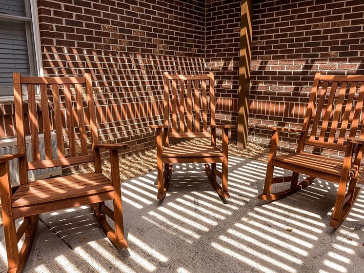 Beautiful Sun Porch at Pacifica Senior Living Heritage Hills, Hendersonville, NC, 28791