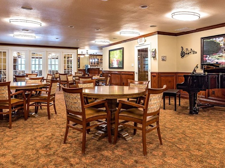 Artistic Finished Dining Room at Pacifica Senior Living Heritage Hills, Hendersonville, 28791