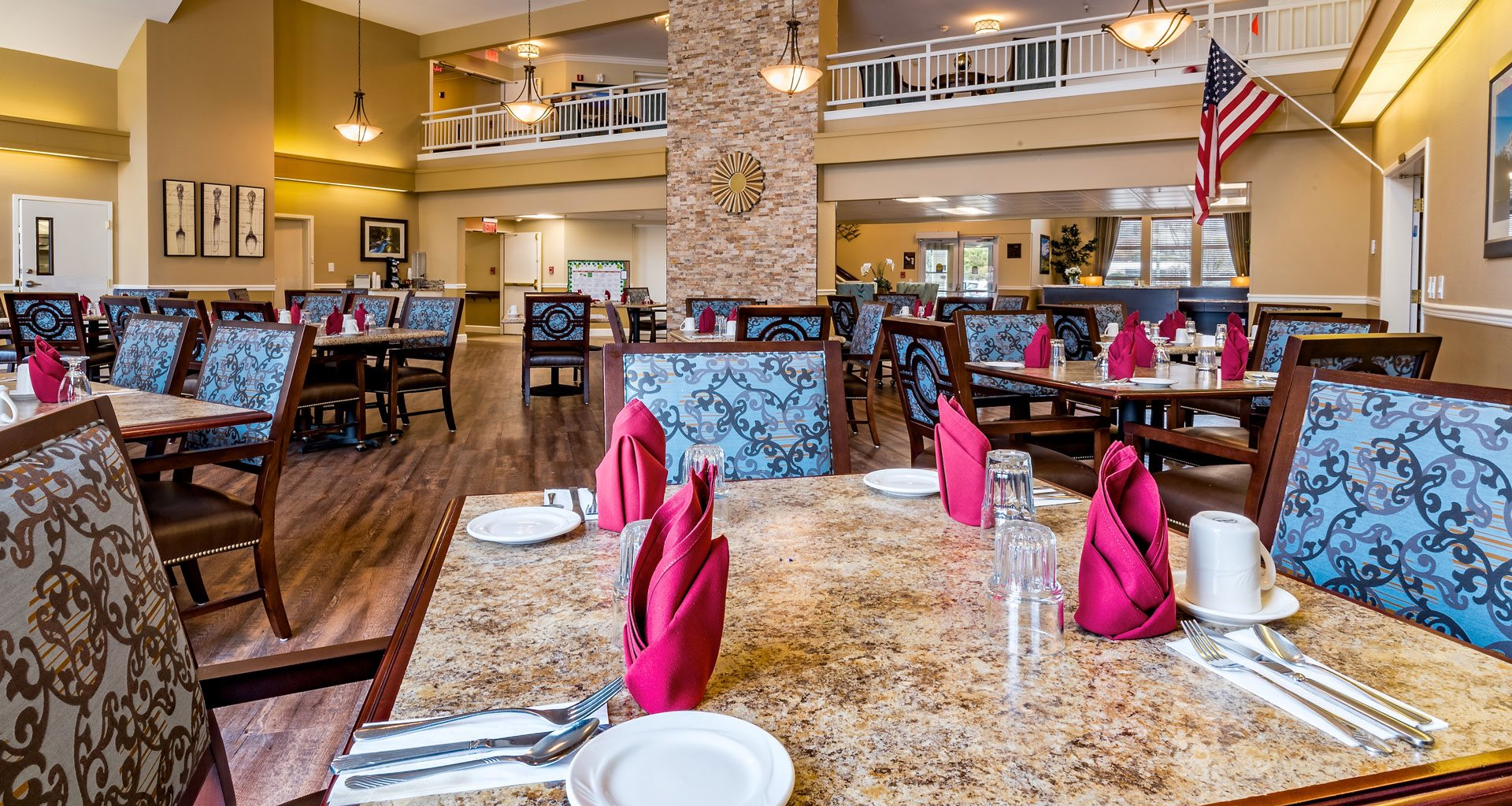 Eat-In Table With High Chairs In Clubhouse at Pacifica Senior Living Klamath Falls, Klamath Falls, OR, 97601