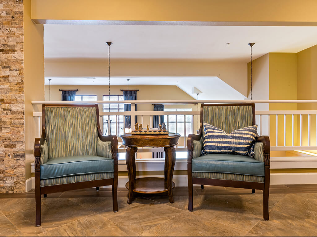 Convenient Sitting Area at Pacifica Senior Living Klamath Falls, Klamath Falls, OR