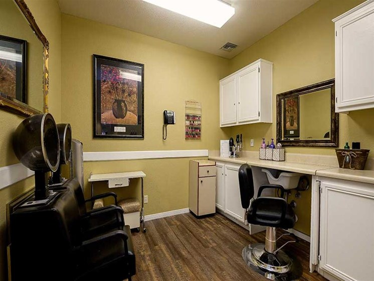 Full-service Beauty Salon on-site at Pacifica Senior Living Newport Mesa, Costa Mesa, 92626