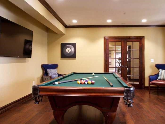 Recreation Room with Billiards Table