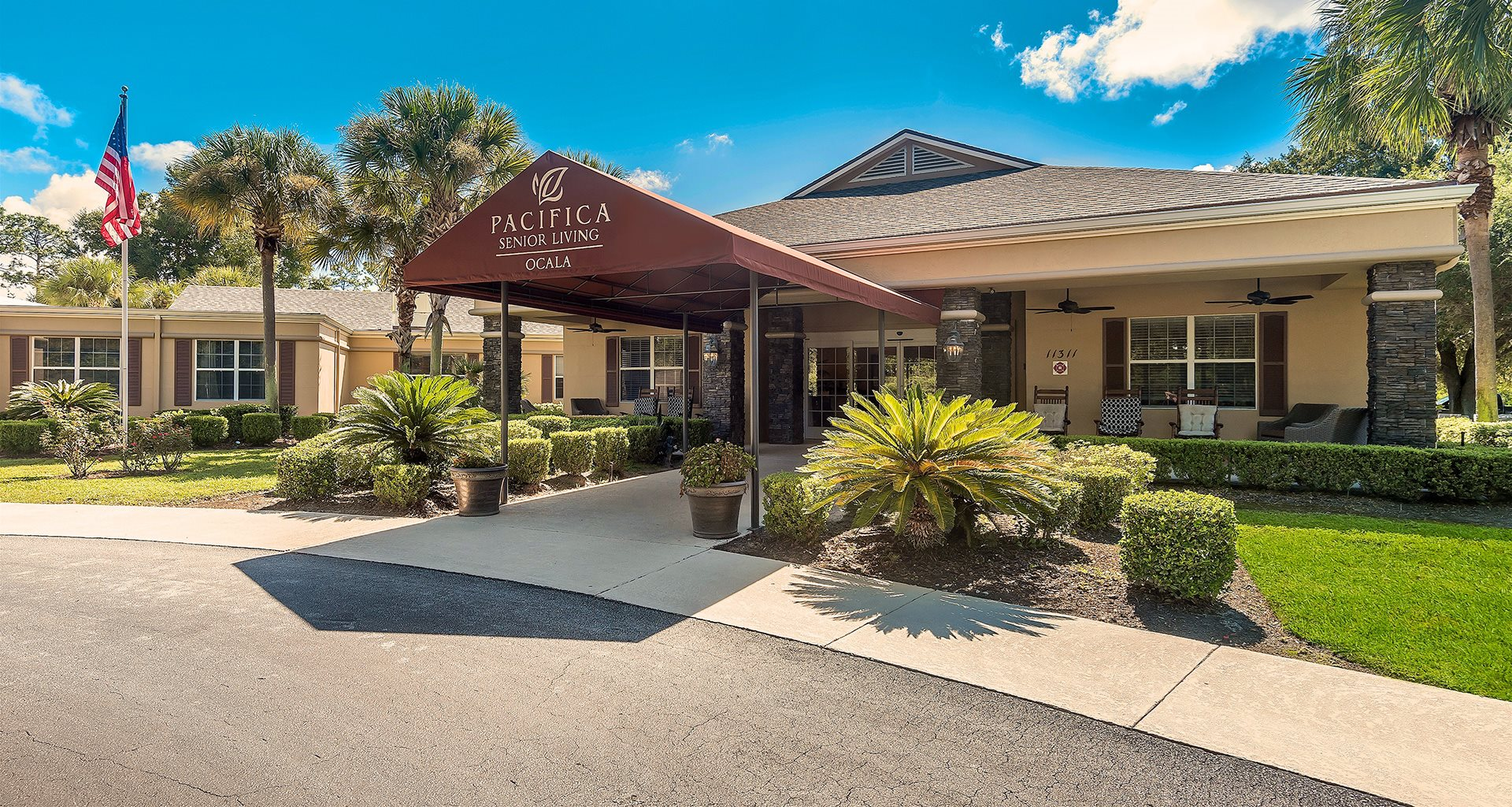 Full Service Beauty and barber salon at Pacifica Senior Living Ocala, Ocala