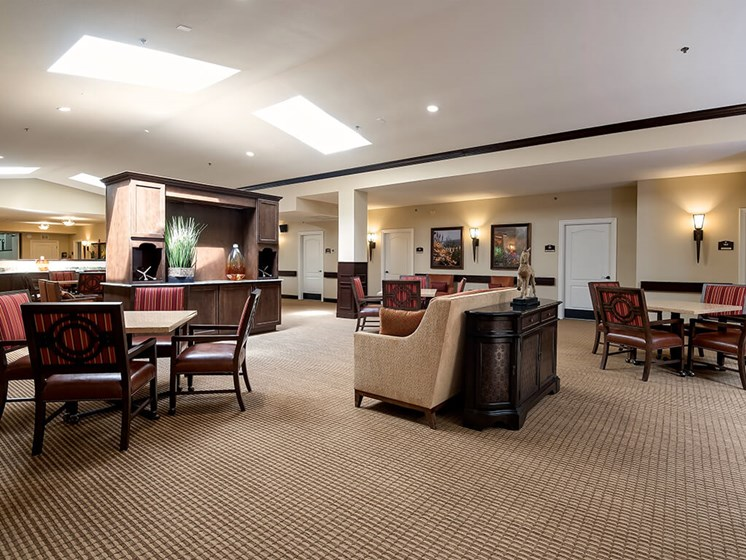 Popular community area for lasting friendships at Pacifica Senior Living Ocala