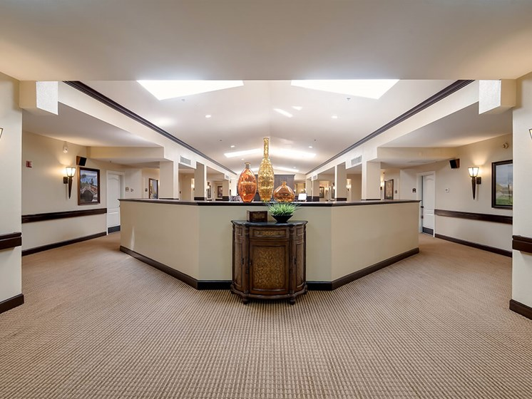 Recently renovated main foyer at Pacifica Senior Living Ocala