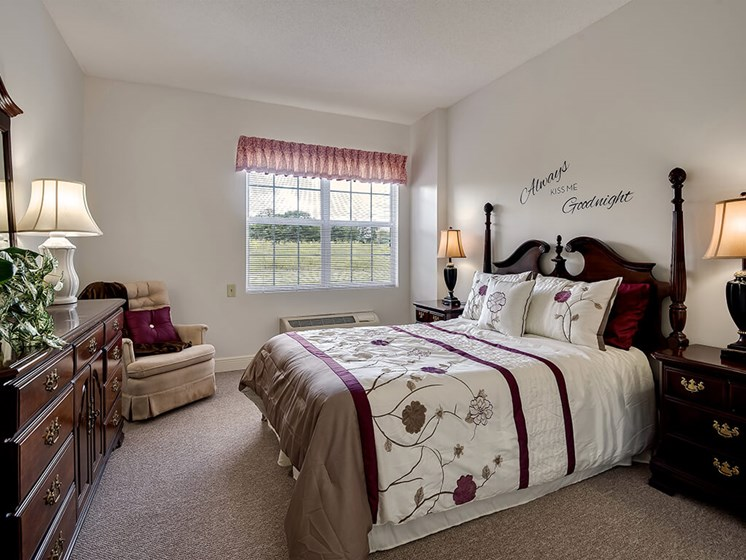 Comfy Bedroom at Pacifica Senior Living Ocala
