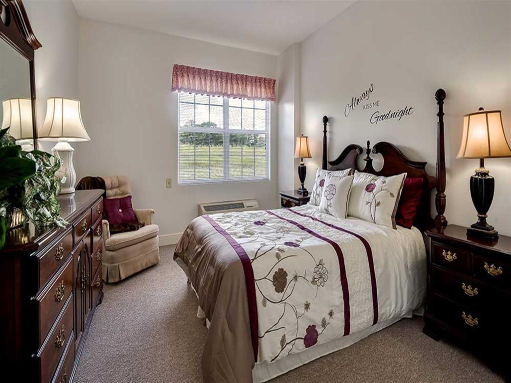 Comfy Bedroom at Pacifica Senior Living Ocala