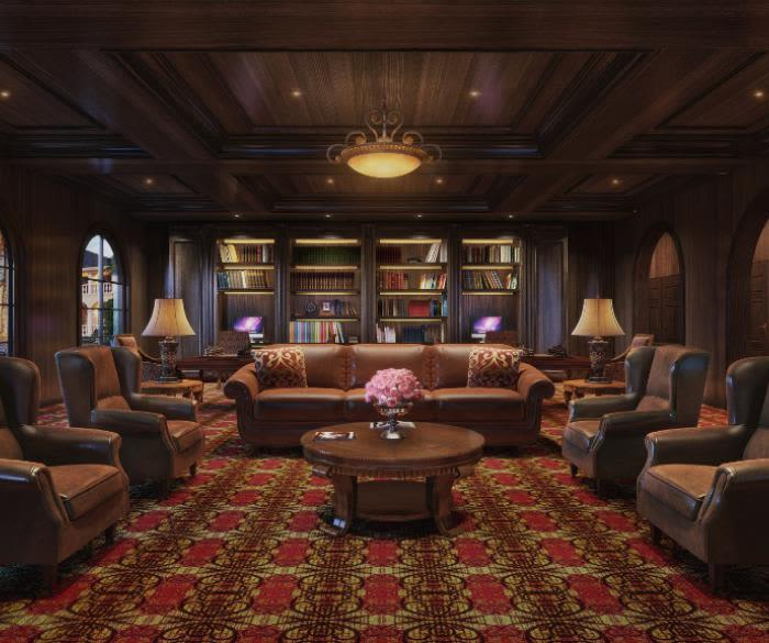 Luxury apartments with a fireplace at Pacifica Senior Living Oceanside