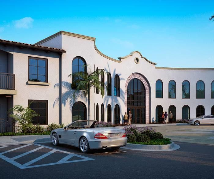 Beautiful front view of Pacifica Senior Living Oceanside
