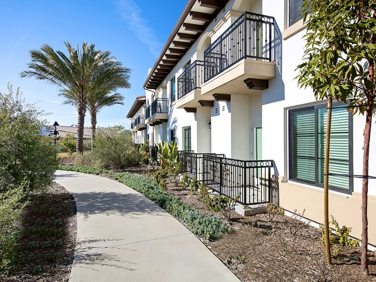Enjoy a beautiful balcony at Pacifica Senior Living Oceanside