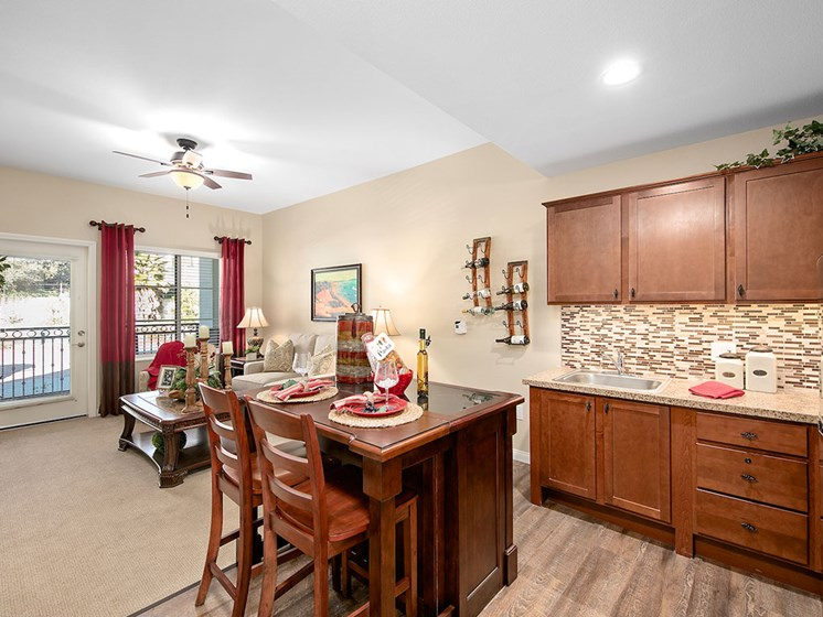 Pacifica Senior Living Oceanside offers a well-appointed kitchen in Oceanside, California