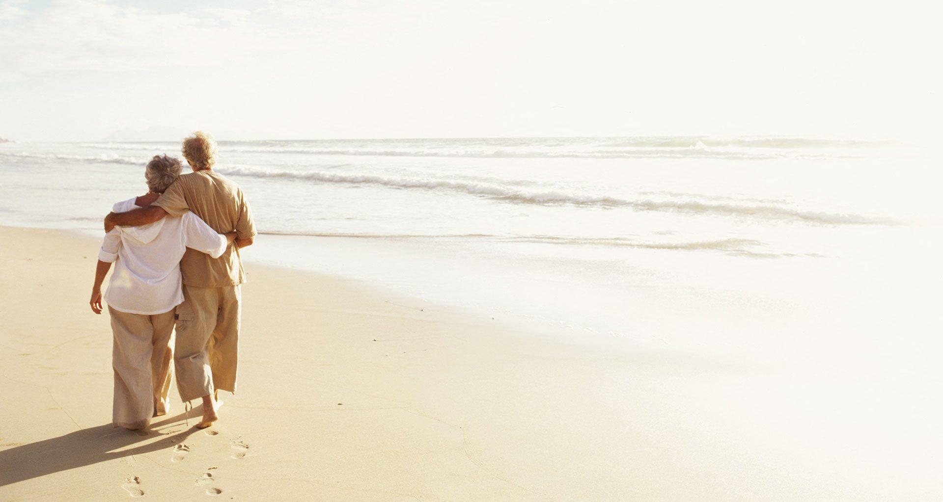 Senior Couple Enjoying Ocean at Pacifica Senior Living Oceanside, Oceanside, 92057
