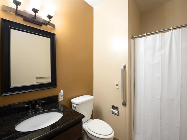 Accessible Bathroom Memory Care at Pacifica Senior Living Palm Beach in Greenacres, Florida
