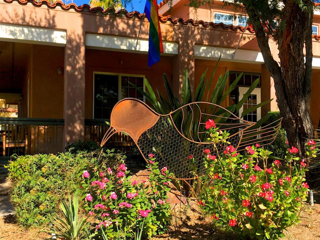 Blooming Garden at Pacifica Senior Living Palm Springs in Palm Springs, California