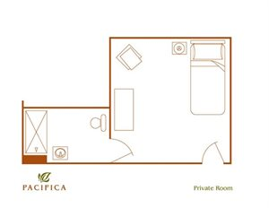 Private Floor Plan at Pacifica Senior Living Paradise Valley, Paradise Valley