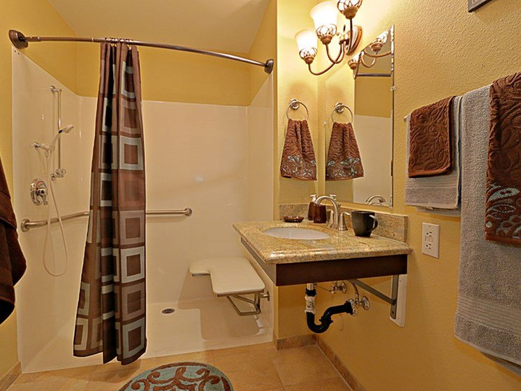 Large Model Bathroom at Pacifica Senior Living Peoria, Arizona