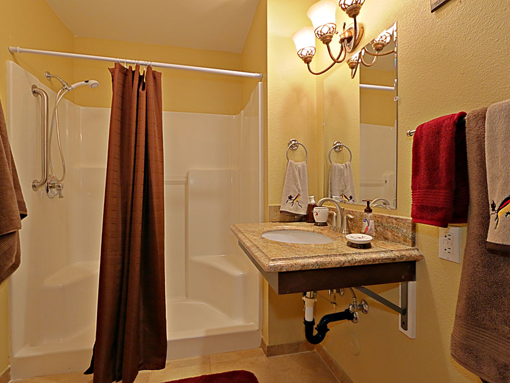 Bathroom with Updated Finishes at Pacifica Senior Living Peoria, Peoria, AZ, 85382