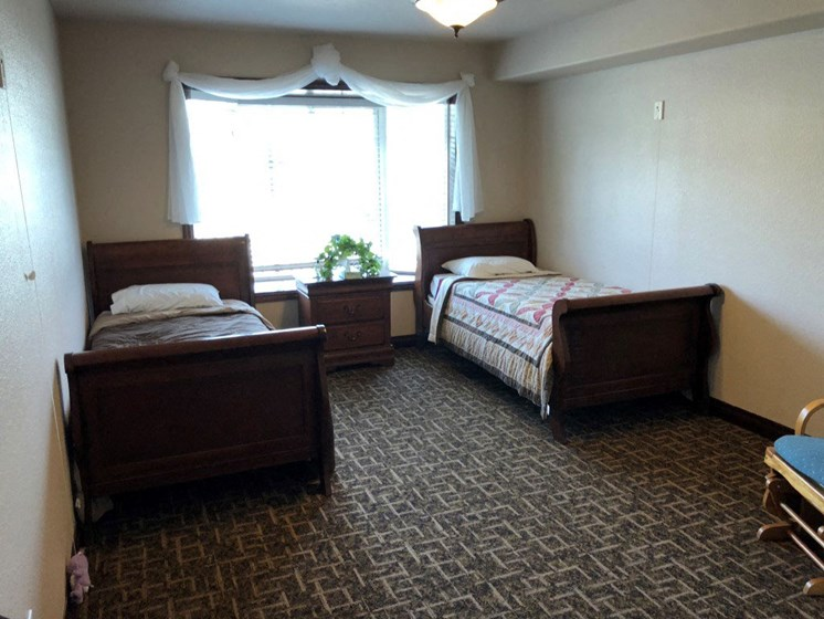 Spacious Shared Bedrooms at Pacifica Senior Living Pinehurst, Pinehurst, 83850