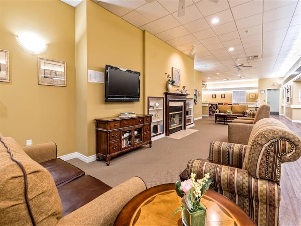TV in Common Area at Pacifica Senior Living Portland, Portland, 97233