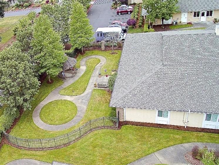 Sprawling Lawn Area at Pacifica Senior Living Portland, Portland