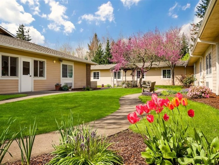 Blooming Garden at Pacifica Senior Living Portland, Portland, OR, 97233