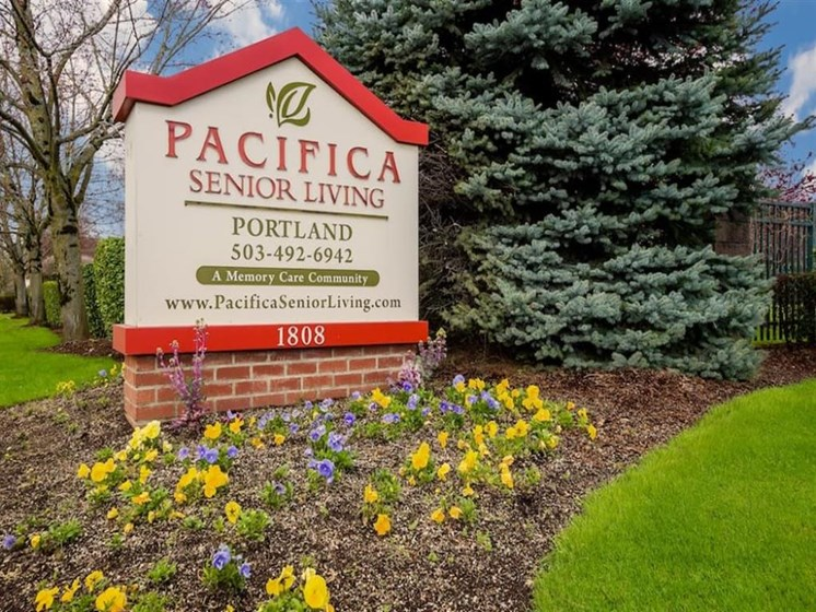 Welcome Sign at Pacifica Senior Living Portland, Portland, OR