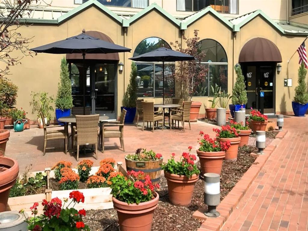 Home Style Gardens and exterior views at Pacifica Senior Living San Leandro in San Leandro, CA