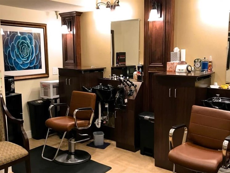 Full-service Beauty Salon at Pacifica Senior Living San Leandro in San Leandro, California
