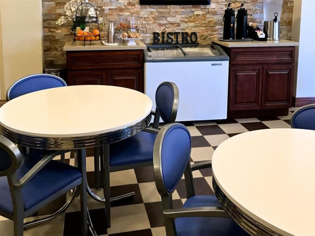 Beautiful clubhouse interior at Pacifica Senior Living San Leandro in San Leandro, CA