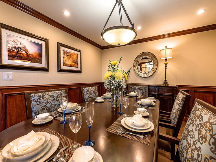 Defined Dining Space,at Pacifica Senior Living San Leandro, San Leandro, CA 94577