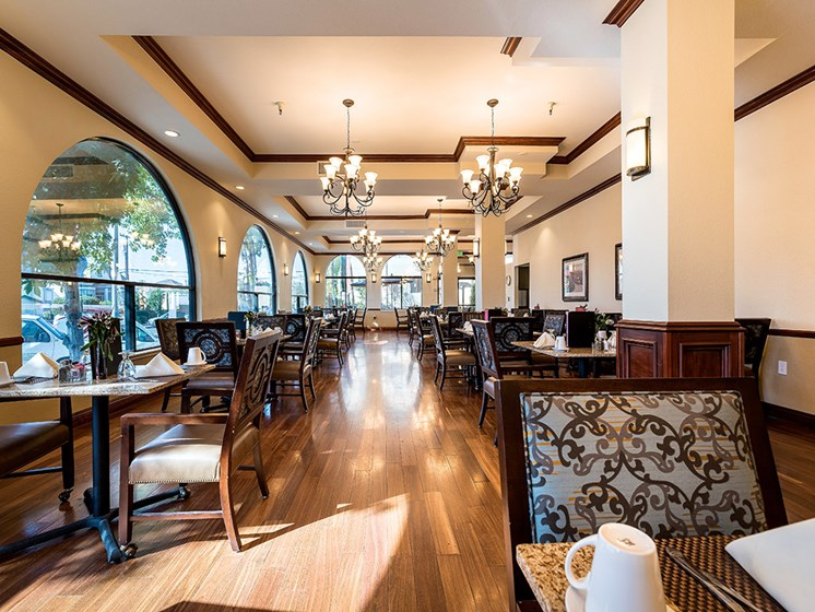 Memory Care Dining Area,at Pacifica Senior Living San Leandro, San Leandro, 94577