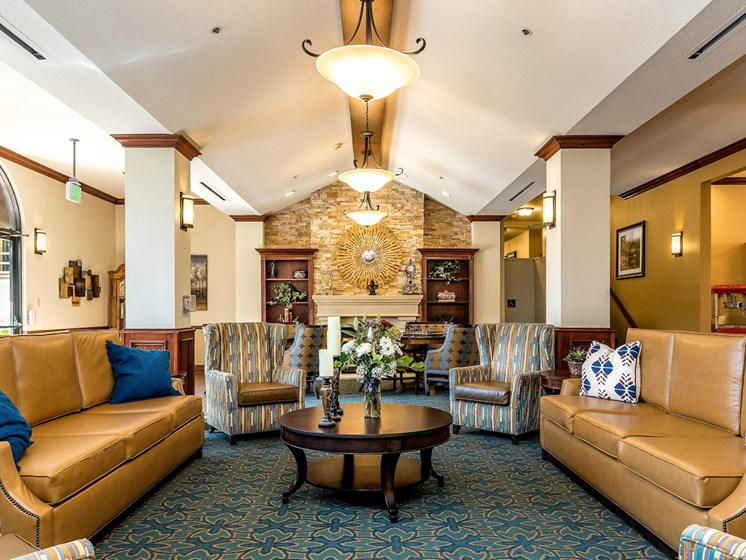 Decorated Living Room Remodel at Pacifica Senior Living San Leandro, California, 94577