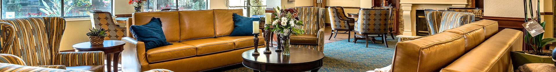 Welcoming Lobby at Pacifica Senior Living San Leandro, California