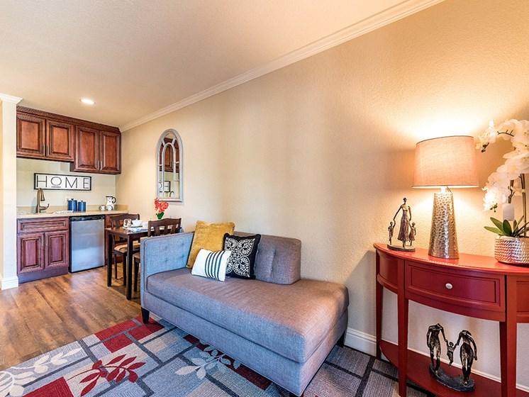Cozy living area, at Pacifica Senior Living San Leandro, San Leandro, CA