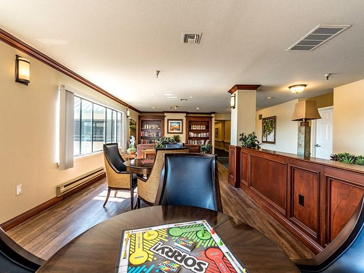 Lavish lobby area, at Pacifica Senior Living San Leandro, California, 94577